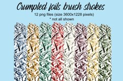 Crumpled foils brush strokes Product Image 1