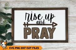 Religious SVG | Rise Up And Pray Product Image 1
