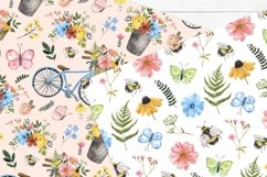 Spring Floral Digital Papers Watercolor Cute Pattern Product Image 6