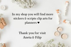 Don't forget font clipart, Don't forget sticker clipart Product Image 2