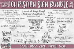 Christian Quotes SVG Bundle, Christian SVG Cut Files Product Image 1
