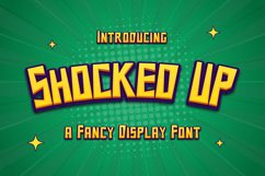 Shocked Up - A Fancy Display Font Product Image 1