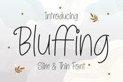 Bluffing - Slim & Thin Font Product Image 1