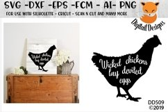 Wicked Chicken SVG Product Image 1