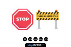 Construction Sign Illustrations Product Image 1