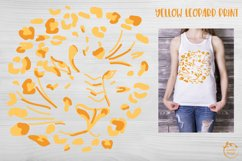 Leopard print seamless pattern on yellow background SVG Product Image 3
