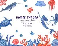 Watercolour sea life Ocean animals Product Image 5