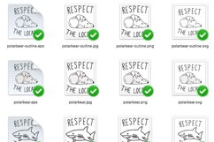 Respect The Locals Shark and Polar Bear SVG-EPS-JPG-PNG Product Image 2