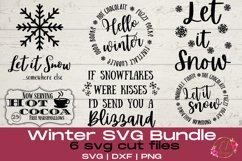 Winter SVG Bundle | Snowflake Svg | Winter Sign SVG Product Image 1
