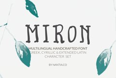Miron Font Another Awesome Hand-Crafted Font Product Image 1