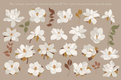 Magnolia flowers clipart. Abstract art Product Image 3