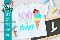 100 Days of Chillin' Ice cream School SVG Product Image 1