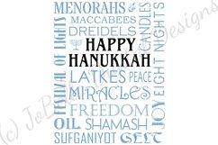 Subway Art Happy Hanukkah SVG Product Image 5