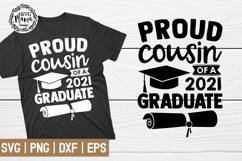 Proud Cousin of a 2021 Graduate SVG Product Image 1