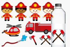 Boys Firefighter Illustrations Product Image 1
