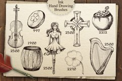 Irish Pub Ink Vintage PS Brushes Product Image 3