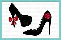 high heel svg, wedding shoe svg, wedding svg Product Image 2