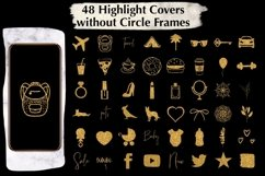 48 Gold Glitter Instagram Highlight Covers. Product Image 2
