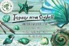 Turquoise ocean Seashell Product Image 1