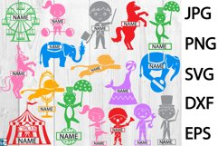Split Colorful Circus - Clip art / Cutting Files 361c Product Image 1