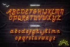 Sunset Club Script Neon Font Product Image 5