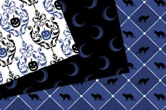 Blue Halloween Digital Paper Product Image 4