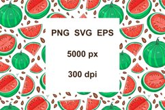 Watermelon Vector Clipart Product Image 3