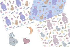 Dreamtime Bears - Doodle Style patterns, JPG, PNG Product Image 2
