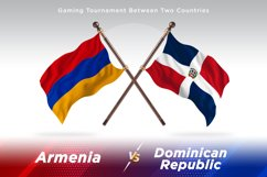 Armenia vs Dominican Republic Two Flags Product Image 1