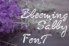 Blooming sally font Product Image 2