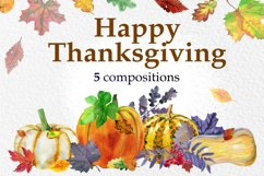 Watercolor Thanksgiving day Product Image 1