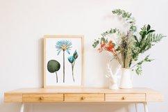 Flower lotus art watercolor for printable prints, pattern Product Image 5
