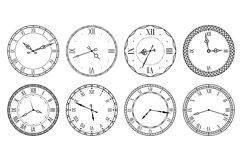 Retro clock face. Antique elegant dial with roman numerals c Product Image 1