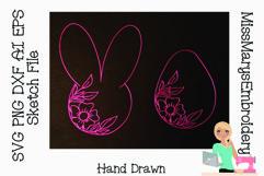 Easter Sketch Set| Easter SVG | Foil Quill |Single Line Product Image 1