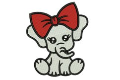 Baby Elephant machine embroidery designs Product Image 1