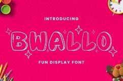 Web Font Bwallo Font Product Image 1