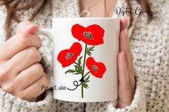 Poppy flowers SVG / EPS / DXF / PNG files Product Image 3
