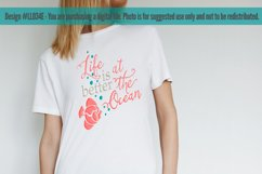 Life Is Better At The Ocean with Fish SVG DXF LL034E Product Image 2