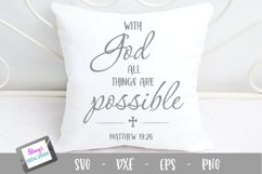 With God all things are possible SVG - Christian SVG Product Image 1