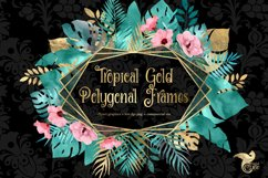 Tropical Gold Polygonal Frames Clipart Product Image 1