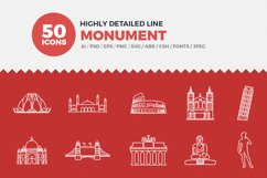 JI-Line Monument Icons Set Product Image 1