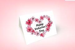 Valentine's Day Watercolor Clipart. Invitation, card design Product Image 3