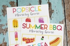Printable Summer Memory Matching Game - 3 Games - ONE Download Product Image 1