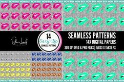 Sexy Lip Seamless Patterns Product Image 3