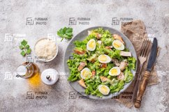 Caesar salad with eggs, chicken and parmesan Product Image 1