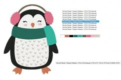 Christmas Fun Penguin Machine Embroidery Design in 2 sizes Product Image 3