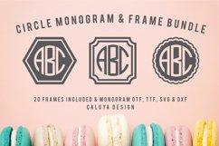Circle Monogram Font | 20 Monogram Frames Bonus Included Product Image 1