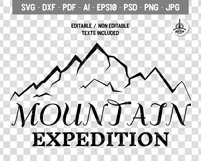 Mountain Expedition Logo Template, Retro Camp SVG File Product Image 4