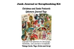 Vintage Christmas Junk Journal or Scrapbook Add Ons Kit PDF Product Image 1