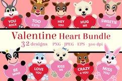 Valentine Heart Bundle Clipart, Conversation Hearts, PNG Product Image 1
